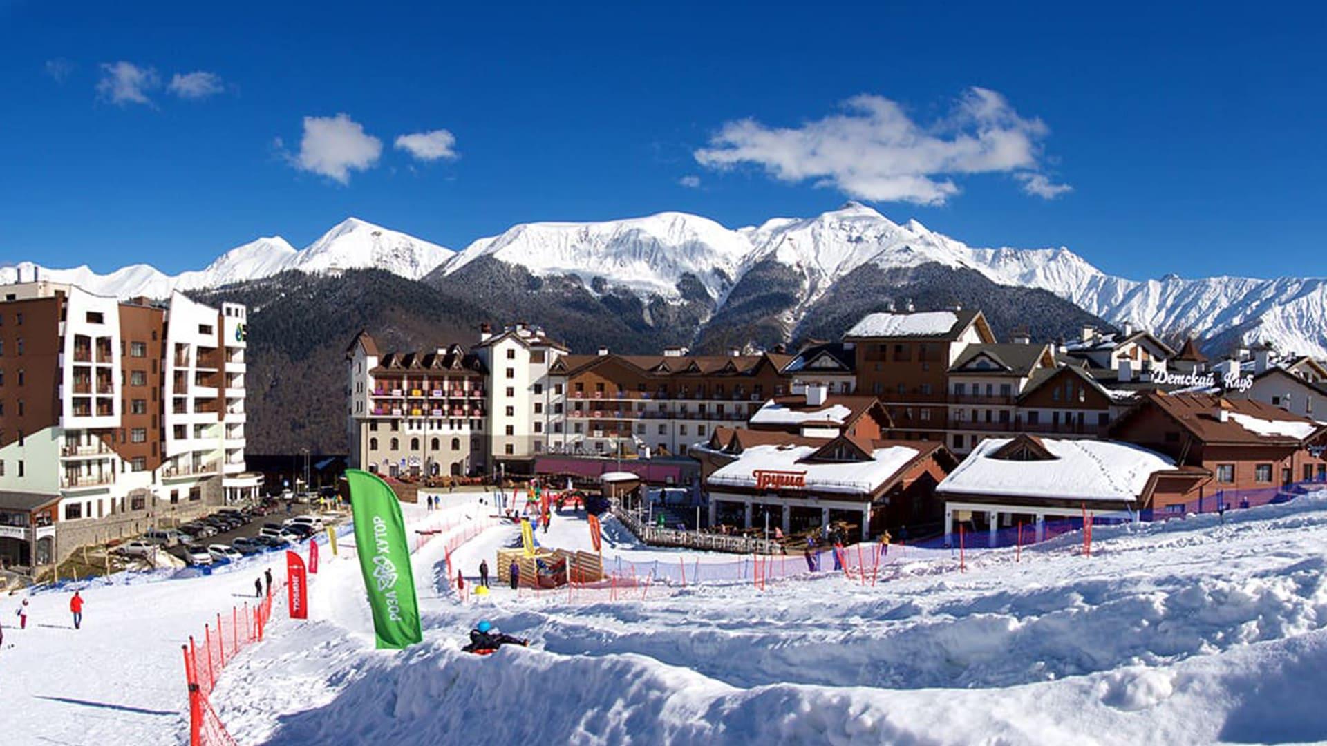Горная олимпийская деревня зима 15