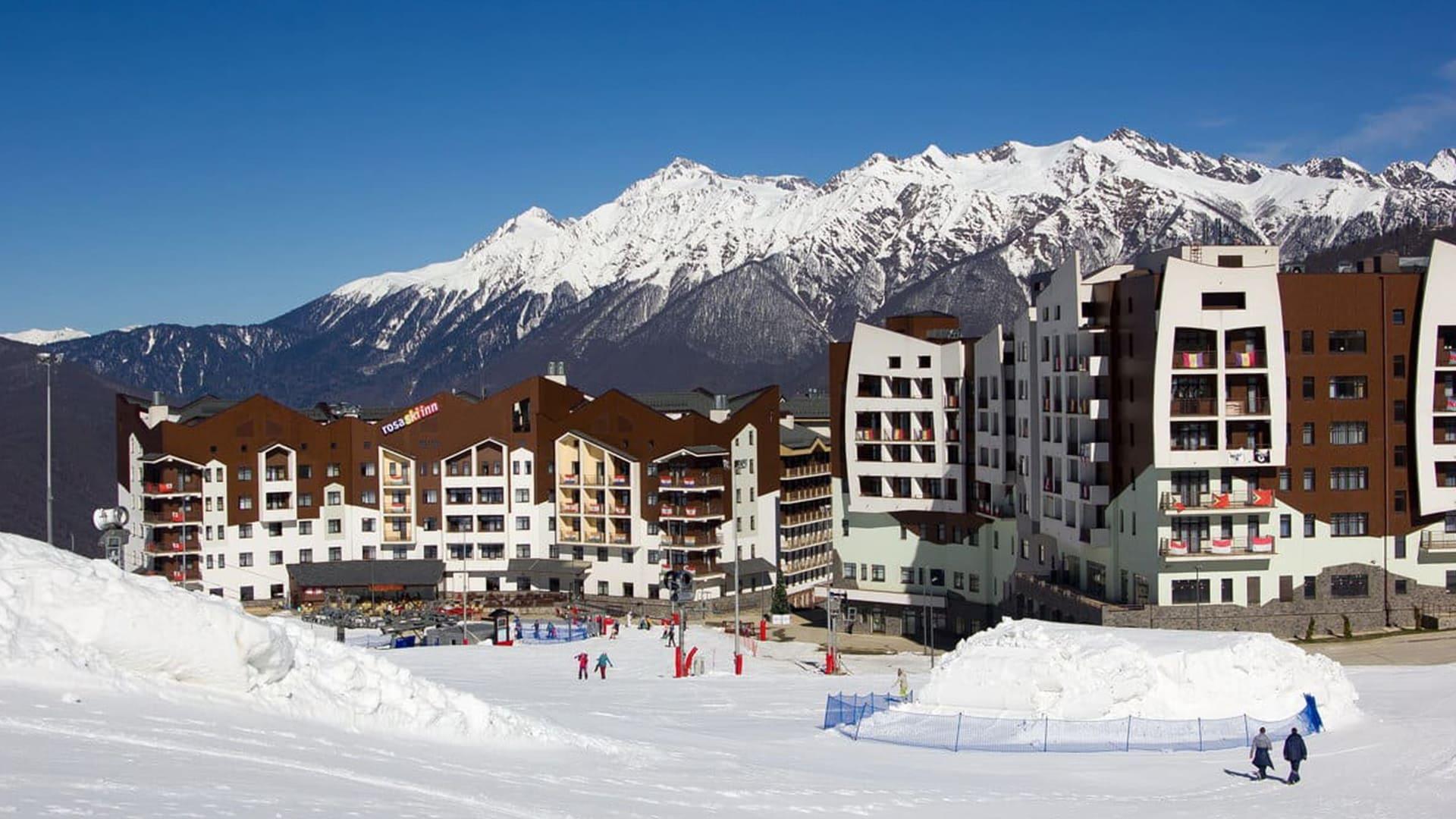 Горная олимпийская деревня зима 18