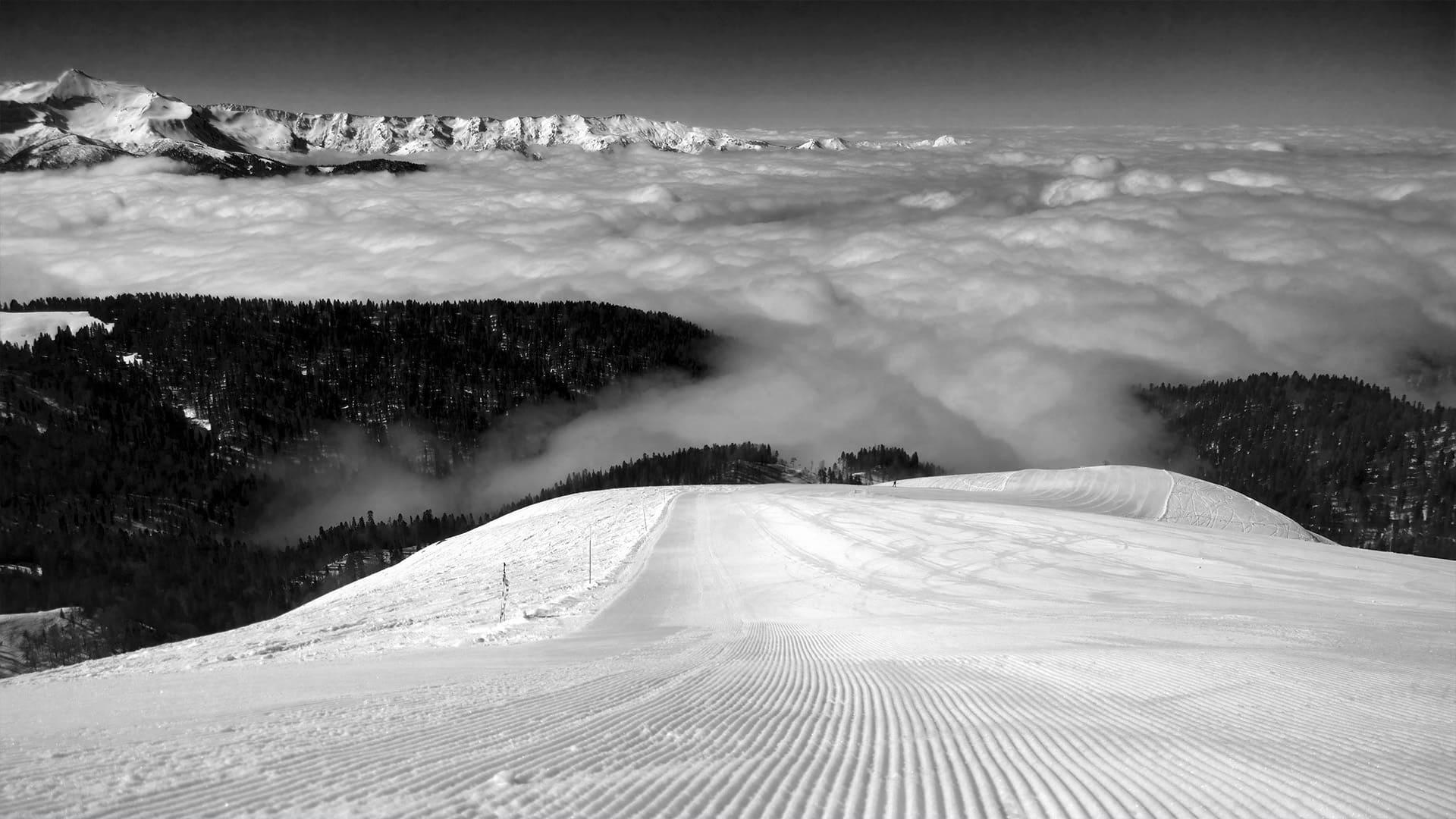 Горная олимпийская деревня зима 2