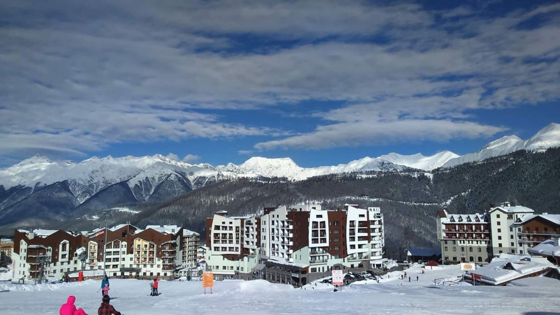 Горная олимпийская деревня зима 20