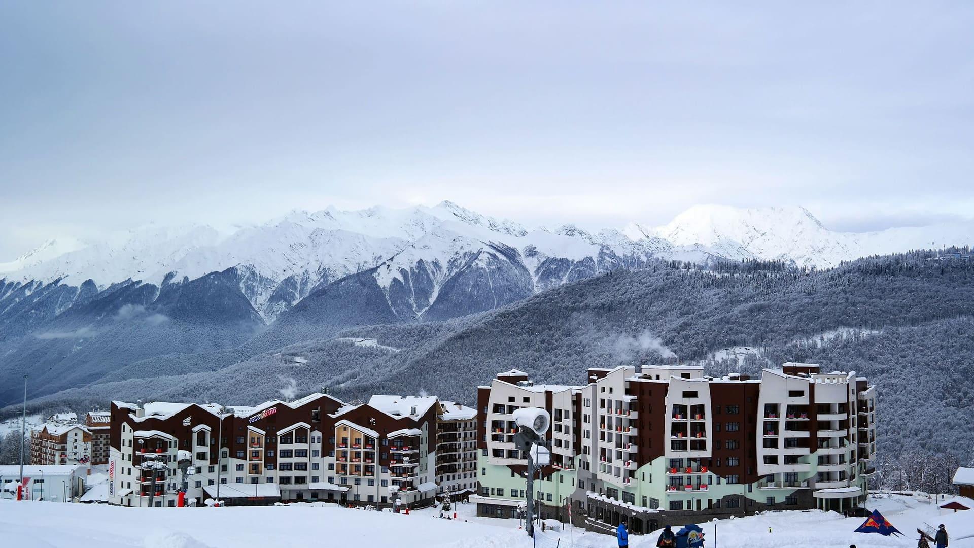 Горная олимпийская деревня зима 21