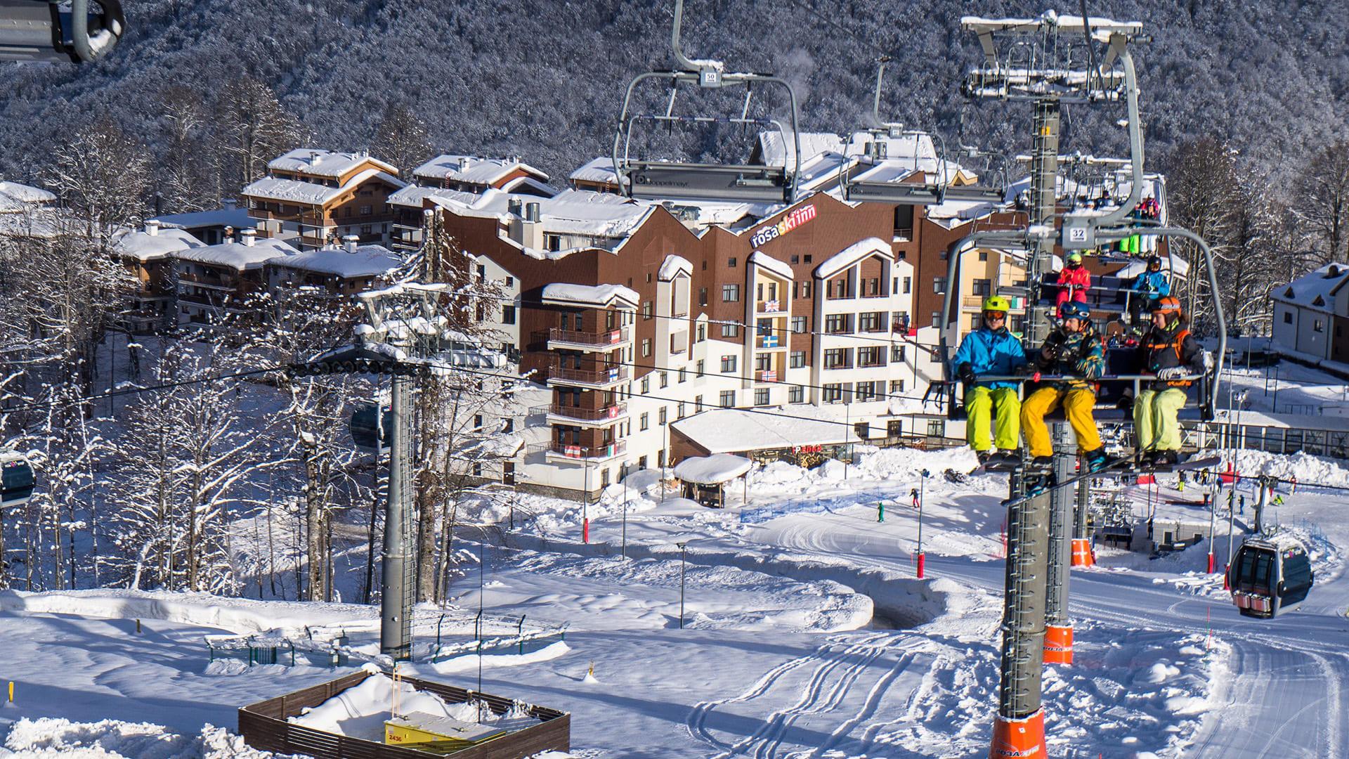 Горная олимпийская деревня зима 26