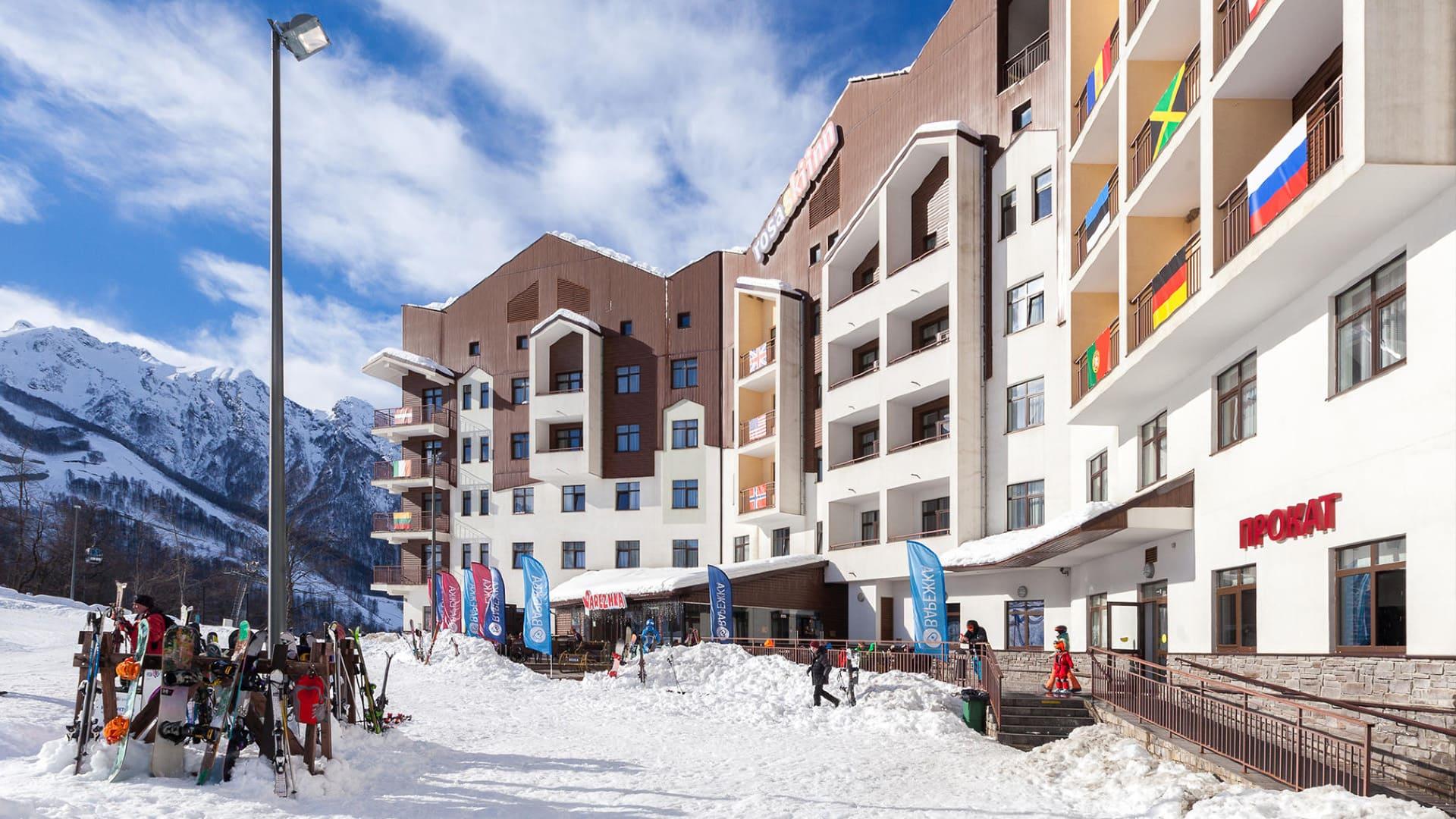Горная олимпийская деревня зима 29