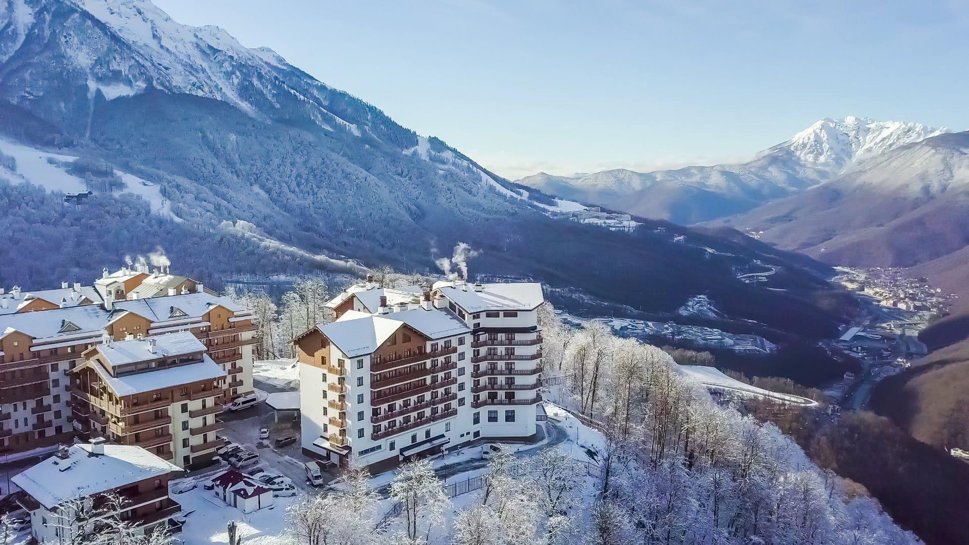 Горная олимпийская деревня зима 31