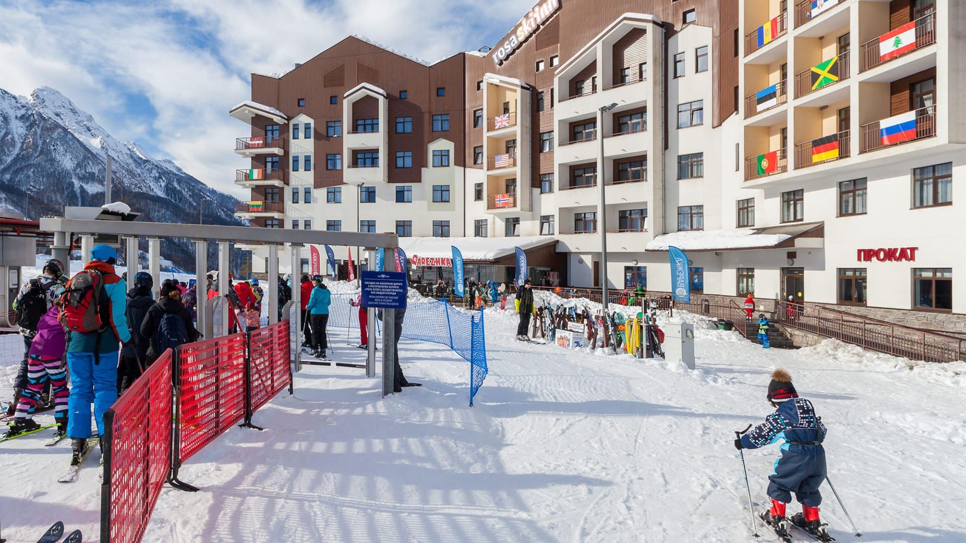 Горная олимпийская деревня зима 38