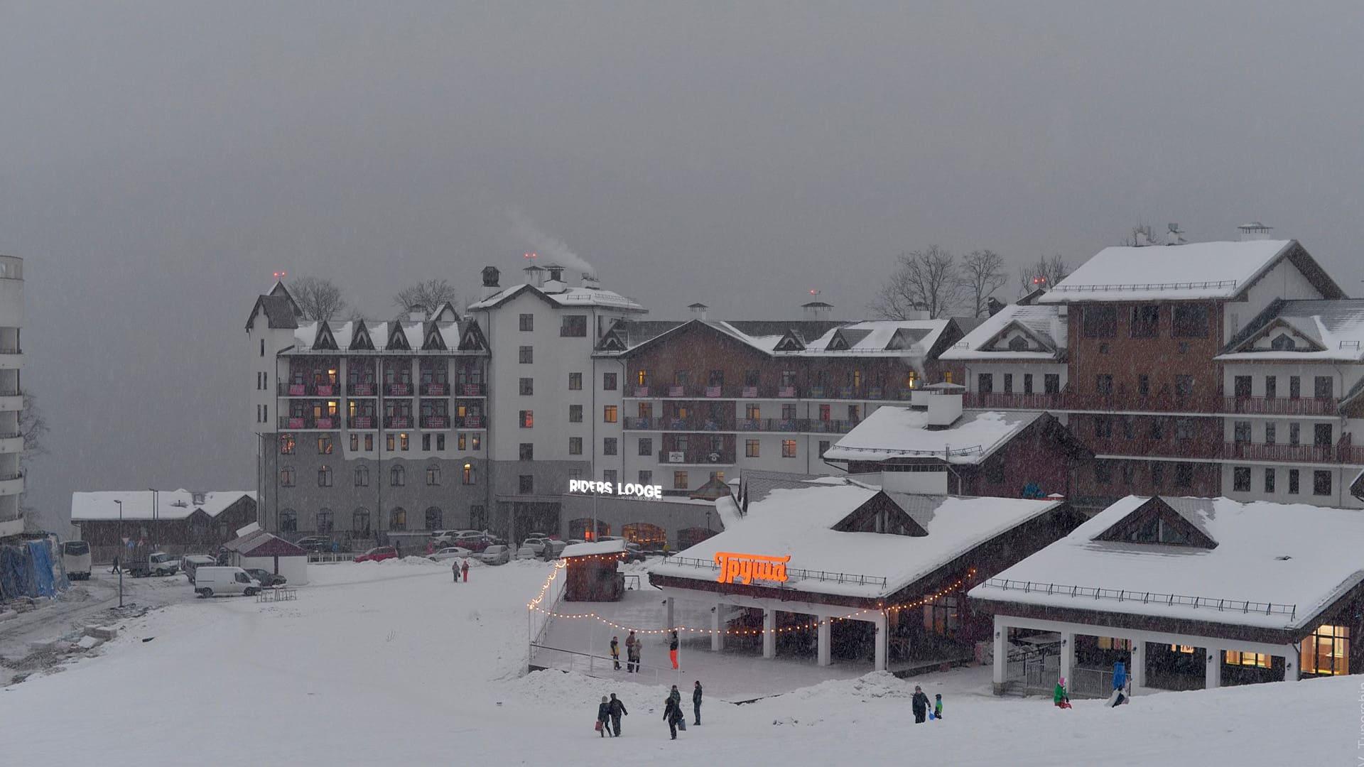 Горная олимпийская деревня зима 6