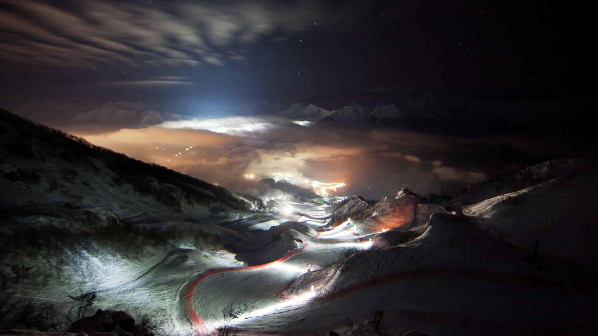 Горная олимпийская деревня зима 9